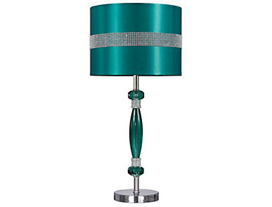 Acrylic Teal/Silver Table Lamp, , large
