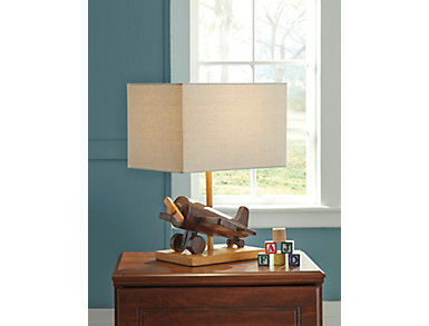 Poly Brown Table Lamp, , large