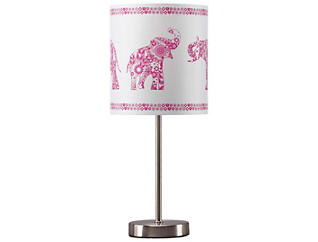 Metal Pink/Silver Table Lamp, , large