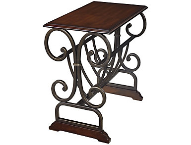 Valencia Bronze Chairside Table, , large