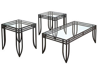 Exeter 3 Pack Occasional Tables, , large