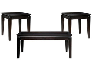 Delormy 3 Pack Occasional Tables, Black, , large
