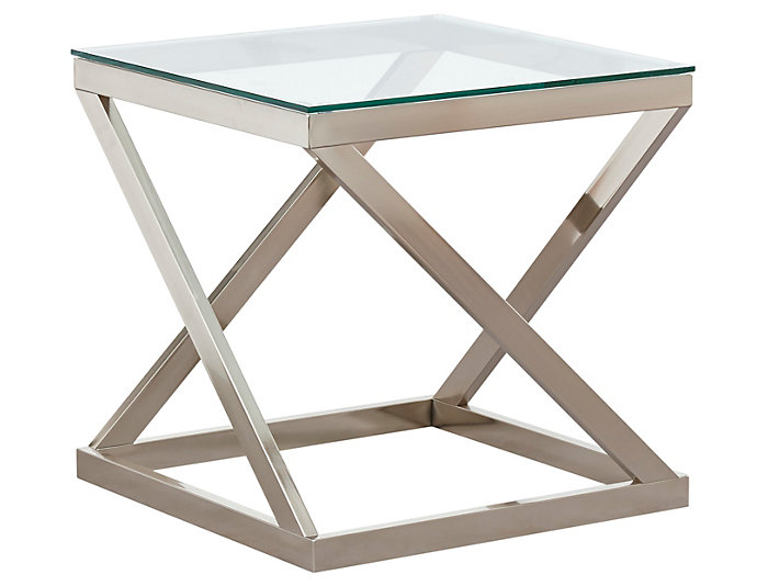 Coylin Square End Table Glass Art Van Home