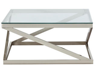 Coylin Square Coffee Table, Glass, , large
