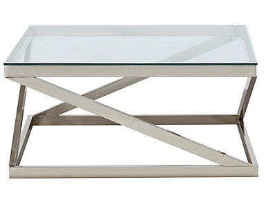 Coylin Square Coffee Table, Nickel, , large