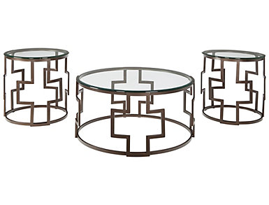 Frost Bronze 3 Pack Occasional Tables, , large