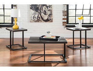 Graphite 3 Pack Occasional Tables, , large