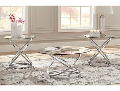 Chrome 3 Pack Occasional Tables, , large