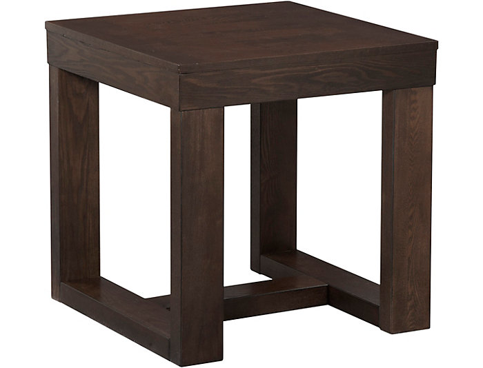 Watson square end table art van home watson square end table brown large watchthetrailerfo