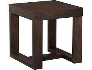 Watson Square End Table, Brown, , large