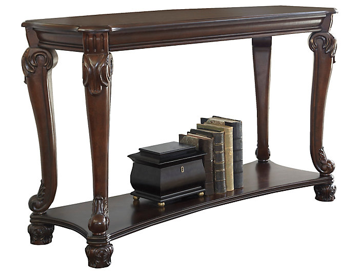 Norcastle II Sofa Table, Brown, , large