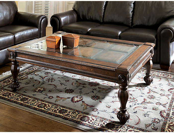 Mantera Rectangle Coffee Table, Brown, , large