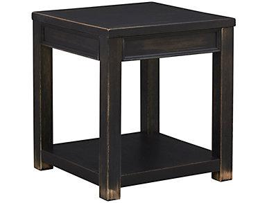 Gavelston Square End Table, Black, , large