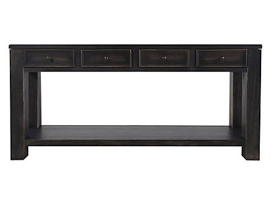 Gavelston Black Sofa Table, , large