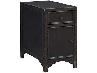 Gavelston Chairside Table, Black, , large