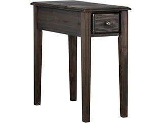USB Chairside Table, Grey Brown, Brown, , large