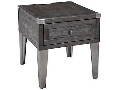 Todoe Brown Rectangular End Table, , large