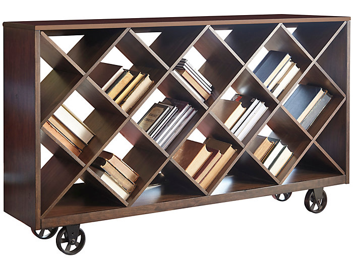 Starmore Box Shelf Console, Brown, , large