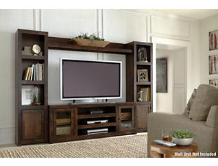 "Alder II 72"" Tobacco TV Stand, Dark Brown, large"