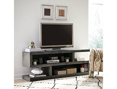 "Alder II 74"" Smokey Grey TV Stand, Grey, large"