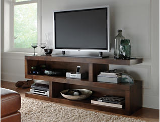 "Alder II 74"" Tobacco TV Stand, Dark Brown, large"