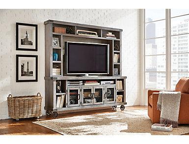 """Boulder Creek 84"""" TV Stand, Grey, large"""