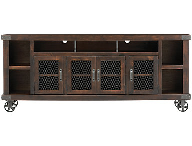 "Boulder Creek 84"" Tobacco TV Stand, , large"