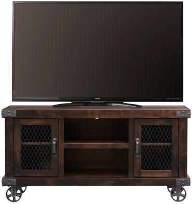 Boulder 55 Tv Stand Dark Brown Swatch