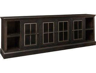 "Churchill 96"" Ghost Black TV Stand, , large"