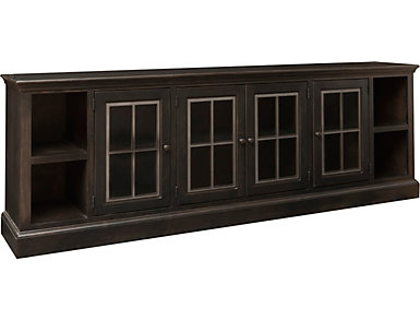 """Churchill 96"""" Ghost Black TV Stand, , large"""