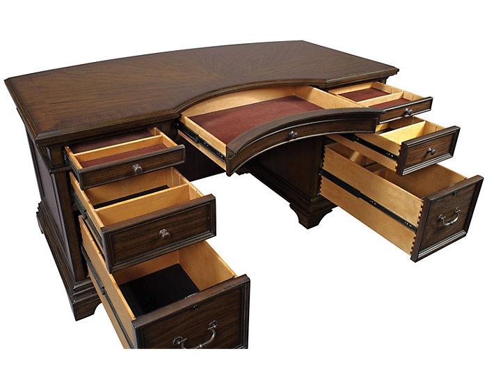 """Essex 66"""" Executive Desk, , large"""