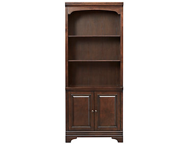 Essex Brown Oak Door Bookcase, , large