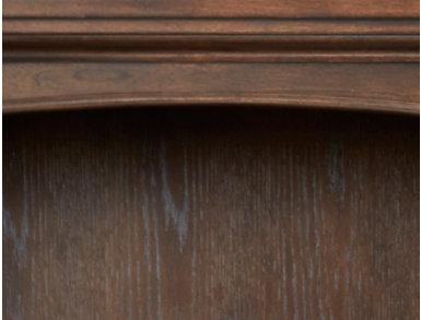Essex Brown Oak Open Bookcase, , large