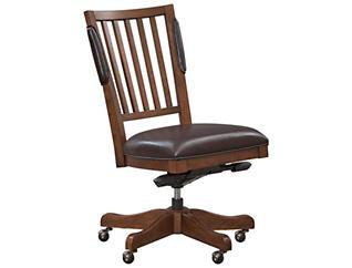 Hawthorne Brown Cherry  Desk Chair, , large
