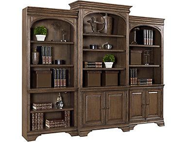 "Arcadia 78"" Aged Copper Door Bookcase, , large"
