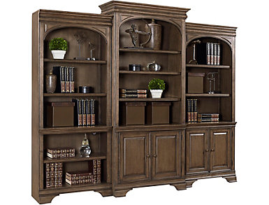"Arcadia 84"" Aged Copper Door Bookcase, , large"