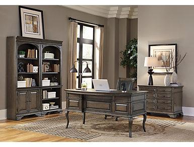 Arcadia Aged Copper Half Pedestal Desk, , large