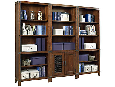 Canfield Cognac Door Bookcase, , large