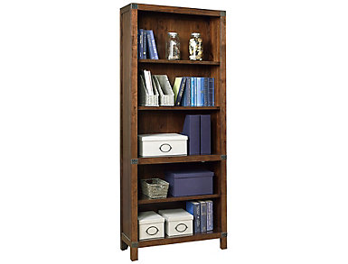 Canfield CognacOpen Bookcase, , large