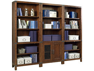 Canfield Cognac Open Bookcase, , large