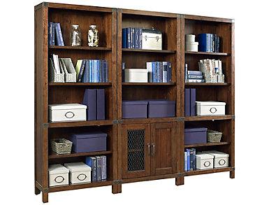 Canfield CognacOpen Bookcase, , large