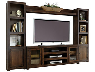"Alder II Wall with 72"" Tobacco TV Stand, , large"