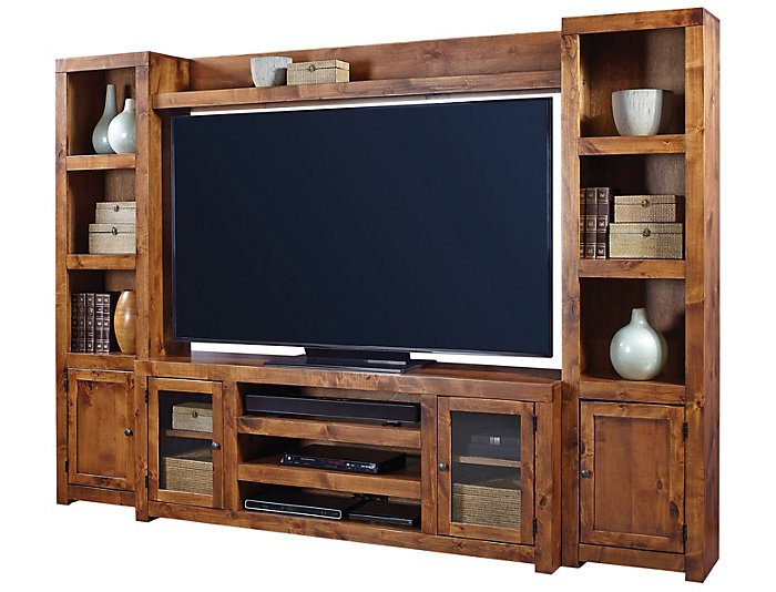 "Alder II Wall with 72"" Console, Fruitwood, , large"