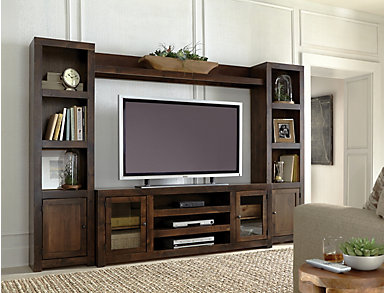 "Alder II Wall with 72"" Console, Grey, large"