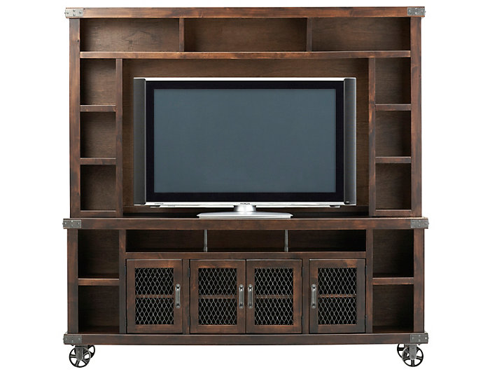 "Boulder Creek 84"" Tobacco TV Stand and Hutch, , large"
