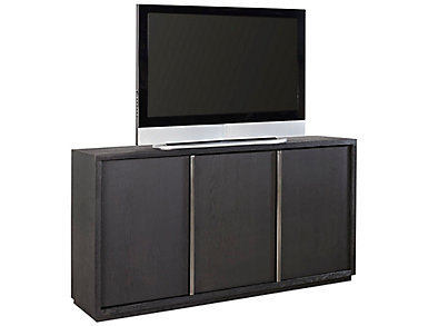 "District 65"" Vintage Black TV Stand, , large"