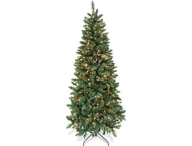 7' Artificial Pre-Lit Tree, , large