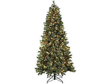 7.5' Artificial Pre-Lit Tree, , large