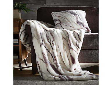 Marble Minky Pillow, , large