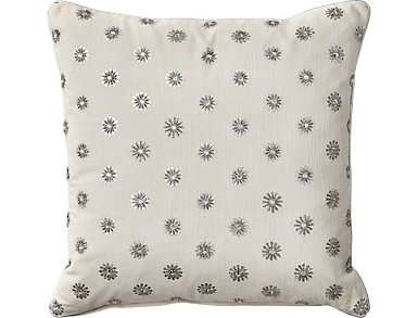 Silver Snowflakes Pillow, , large